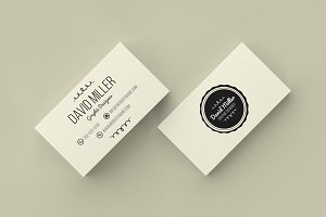 Vintage Minimal Business Card