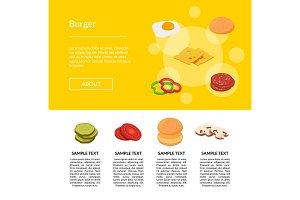 Isometric burger ingredients web