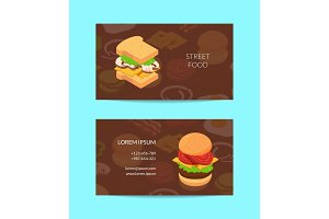 Vector isometric burger business