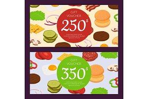 Vector burger ingredients discount