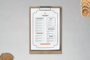 Restaurant Menu Template Minimalist