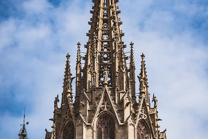 Main tower of a gothic cathedral