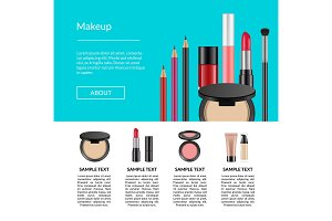 Vector realistic makeup elements