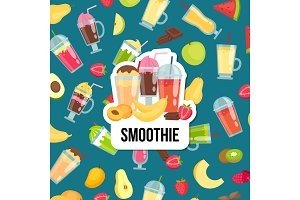 Vector flat smoothie with place for