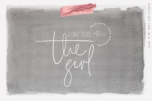 The Girl Font Duo+12 PSD Insta posts