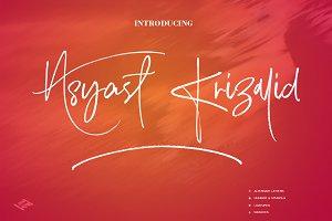 Asyast Krizalid Brush Script Font