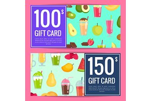 Vector flat smoothie discount gift