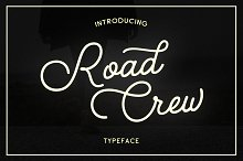 Road Crew by  in Script Fonts