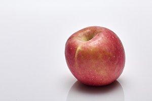 Ripe apple fruit on white background