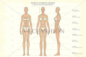Woman Fashion Croqui Vector