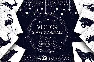 Vector Stars and Animals