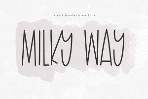 Milky Way - A Tall Handwritten Font