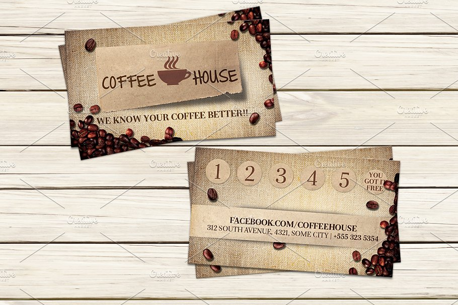 Coffee shop business card template business card templates coffee shop business card template wajeb Images