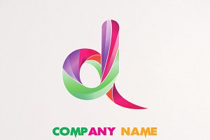 3D FLAME LOGO D DESIGN