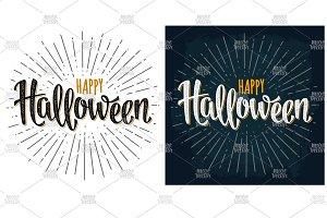 Happy Halloween handwriting