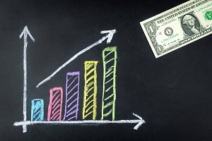 Business graph growth dollar