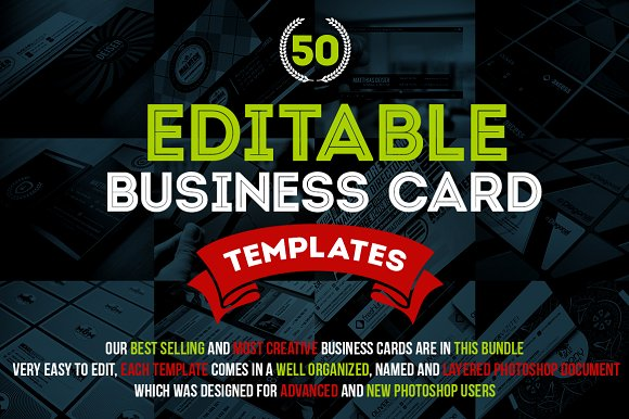 Awesome business card bundle 50 psd business card templates awesome business card bundle 50 psd business card templates creative market wajeb Gallery
