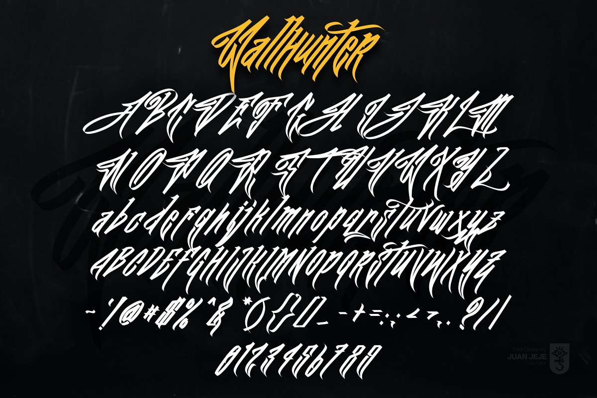 Wall Hunters   Graffiti Tag Fonts UP in Graffiti Fonts - product preview 3