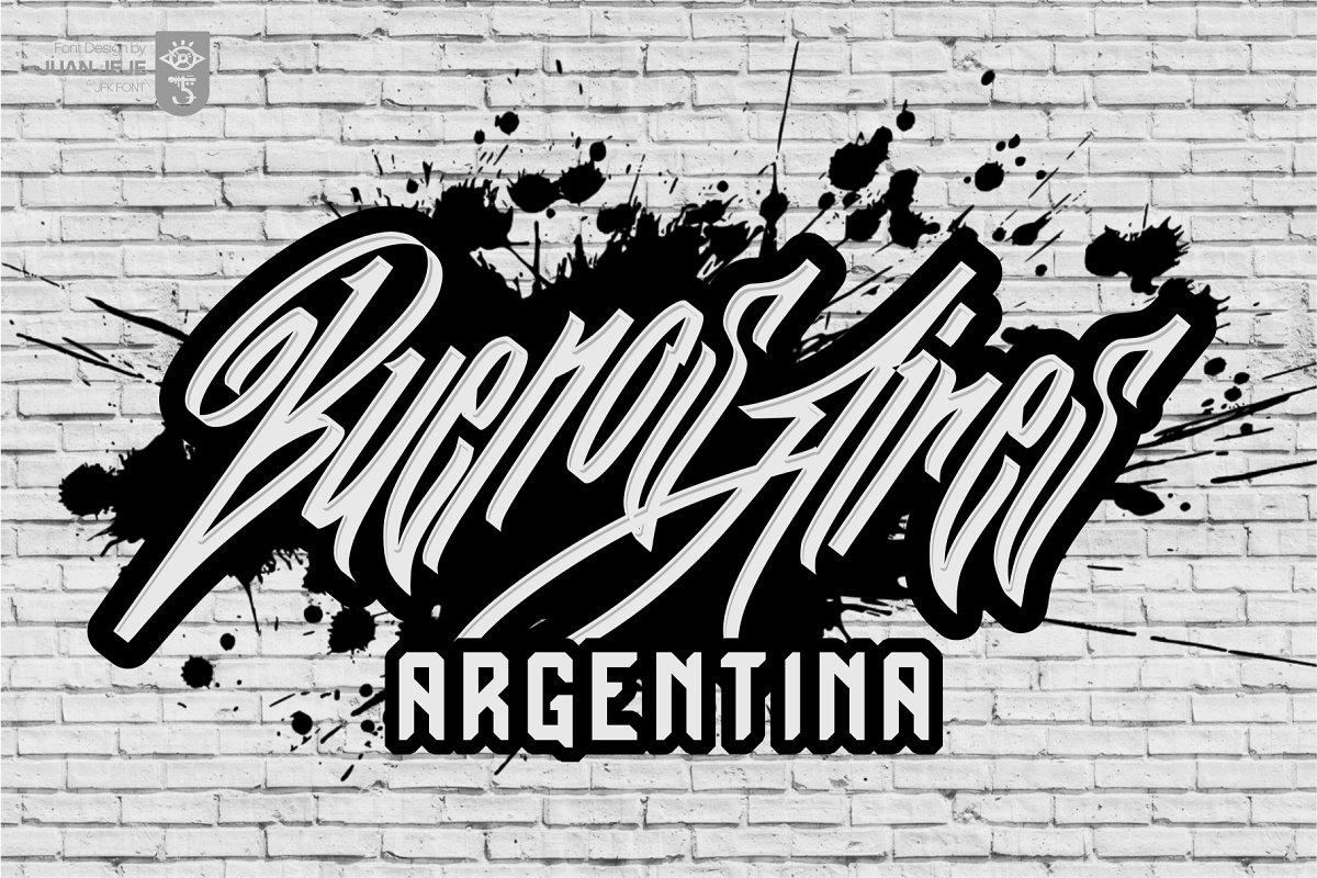 Wall Hunters   Graffiti Tag Fonts UP in Graffiti Fonts - product preview 4