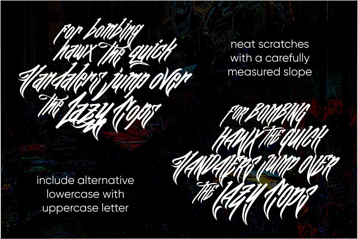 Wall Hunters   Graffiti Tag Fonts UP in Graffiti Fonts - product preview 5