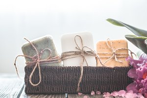 Spa soap composition with orchid