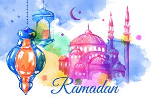 Ramadan. Banners and cards