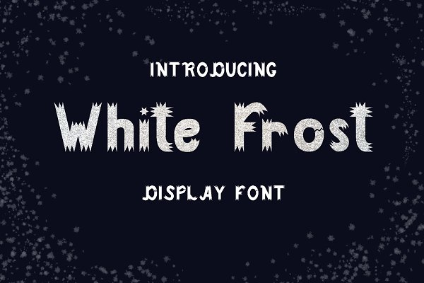 Display Fonts: Nadejda K - White Frost Font| Display
