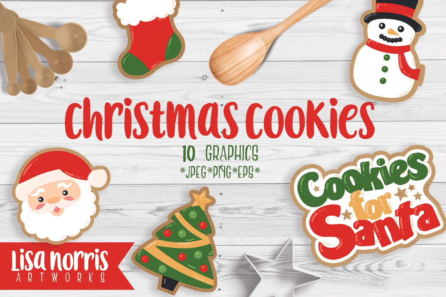 Christmas Cookies Clip Art Graphics ~ Illustrations ~ Creative Market