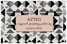 Aztec Inspired Seamless Patterns by  in Patterns