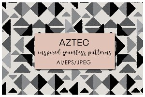 Aztec Inspired Seamless Patterns