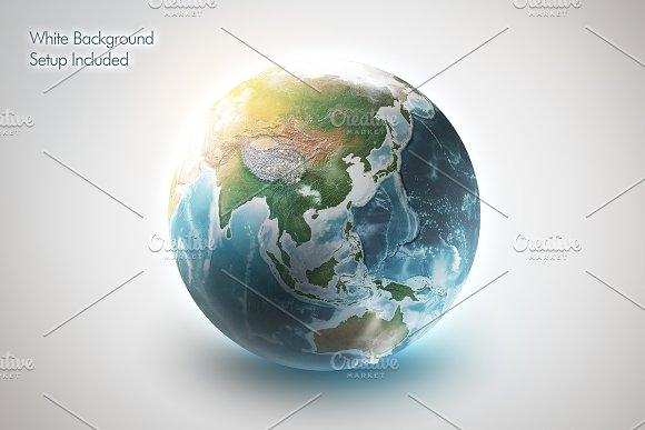 3D Earth World for Photoshop