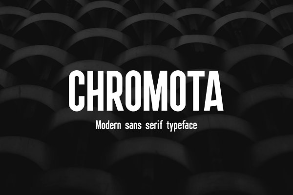 Sans Serif Fonts: kulturrrno - Chromota Typaface