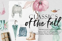 Classics of the fall, Watercolor Set by  in Objects