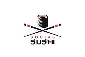Logo for social sushi concept