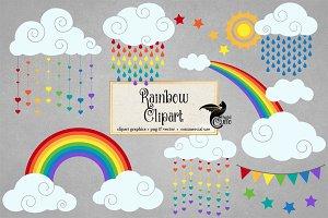 Rainbow Vector Clipart