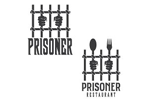 Logo concept for Prisoner restaurant