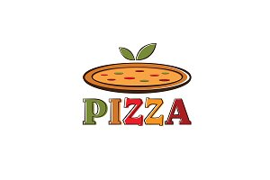Logo for pizza with leaves