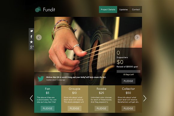 Fundit - OnePage Crowdfunding Theme