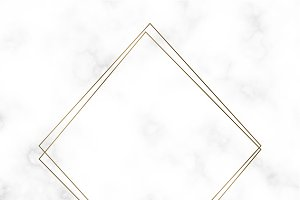 Golden square frame template vector