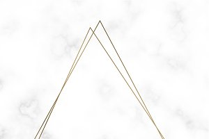 Golden triangle frame vector