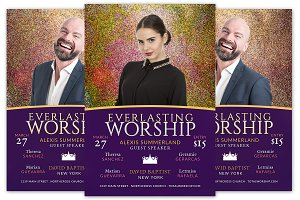 Everlasting Worship Church Flyer