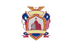 Texas Warship Lone Star Flag Crest I
