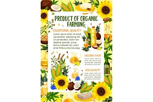 Organic farm oil and butter