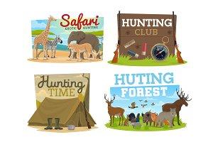 Hunting club and safari hunt