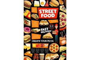Street food and fastfood delivery