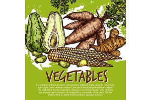 Exotic vegetables and edible roots