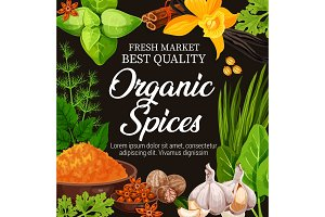Natural herbs, seasoning spices