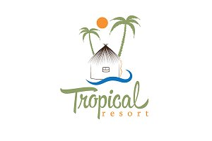 Logo for tropical resort