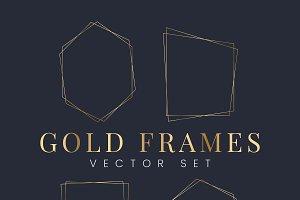 Set of gold frame vectors