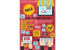Online shopping, web purchase